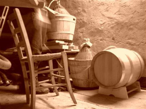 little barrels of Vin Santo of Gambellara