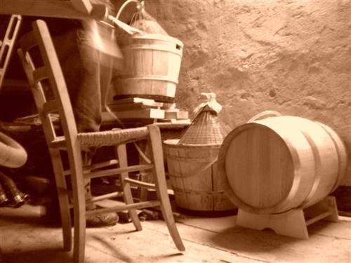 little barrels of Vin Santo of Gambellara